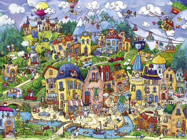 Puzzle 1500 Heye 29744 Szczęślwie Miasto