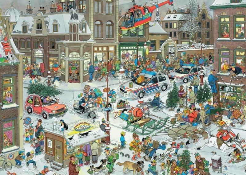Puzzle 1000 Jumbo 13007 Boże Narodzenie - Jan van Haasteren