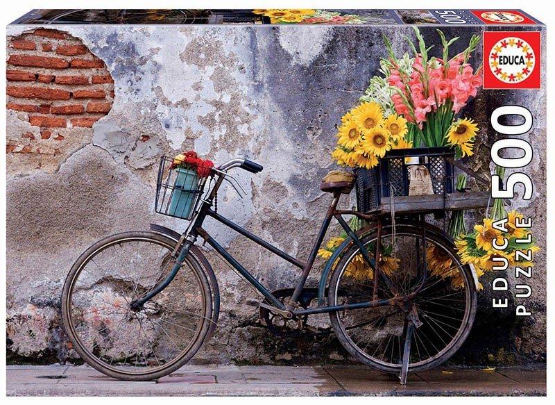 Puzzle 500 Educa 17988 Rower z Kwiatami