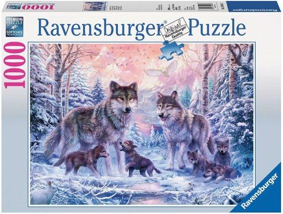 Puzzle 1000 Ravensburger 191468 Arktyczne Wilki