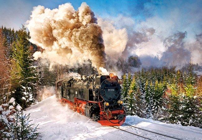 Puzzle 1000 Castorland C-103409 Lokomotywa - Steam Train