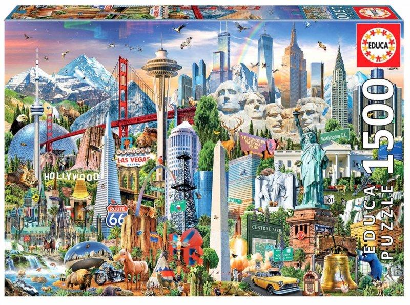 Puzzle 1500 Educa 17670 Symbole Ameryka Północna