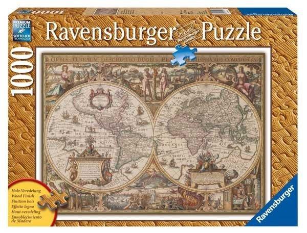 Puzzle 1000 Ravensburger 190041 Antyczna Mapa Świata