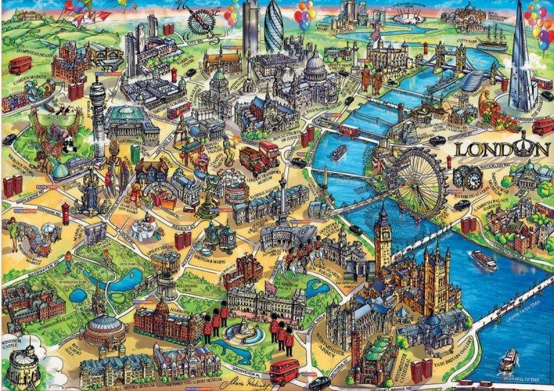 Puzzle 500 Educa 18451 Londyn - Mapa