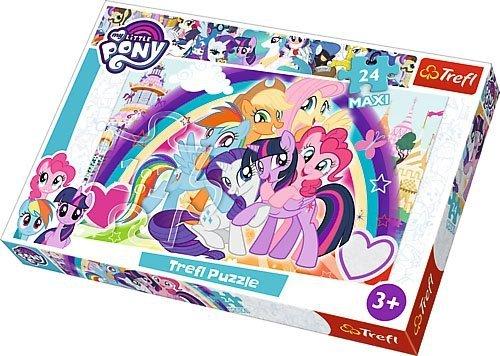 Puzzle 24 Maxi Trefl 14269 Pony - Szczęśliwe Kucyki