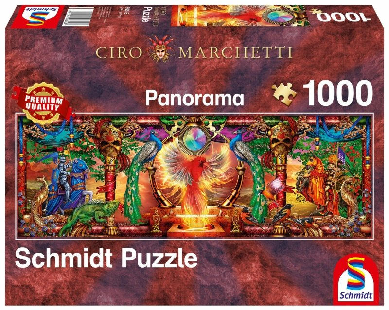 Puzzle 1000 Schmidt  59615 Ciro Marchetti - Ognisty Ptak - Panorama