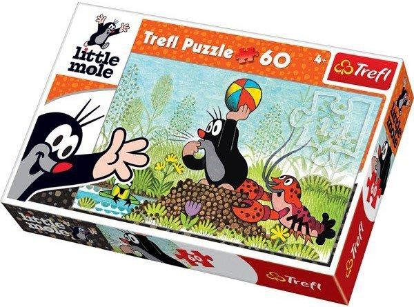 Puzzle 60 Trefl 17234 Krecik - Pobawmy się !