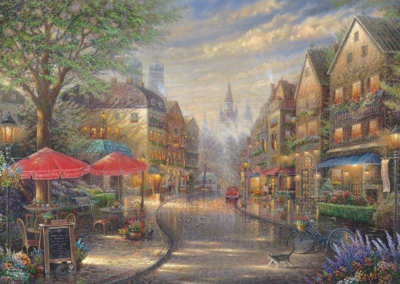 Puzzle 1000 Schmidt 59675 Thomas Kinkade - Kawiarenka w Monachium