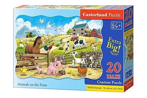 Puzzle 20 Maxi Castorland C-02429 Zwierzęta na Farmie