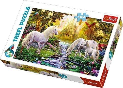 Puzzle 100 Trefl T-16349 Jednorożce - Sekretny Ogród
