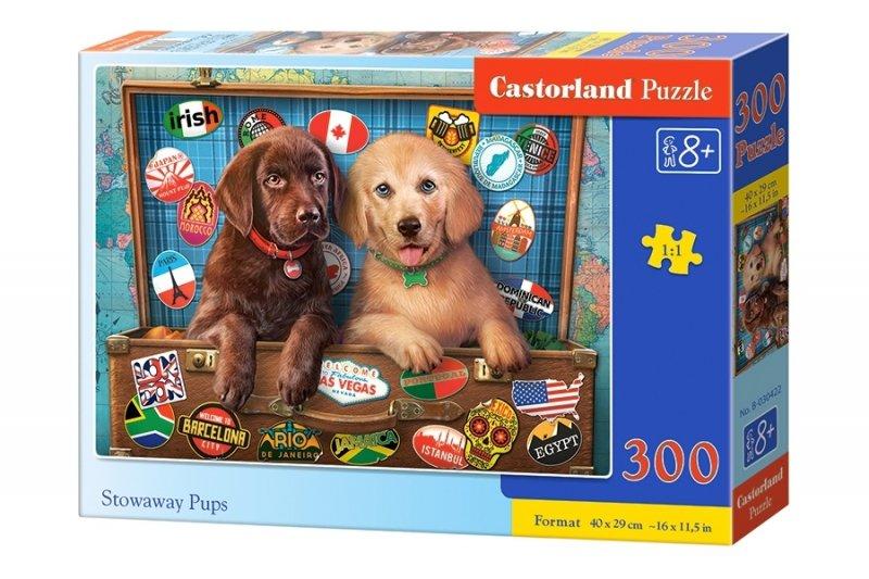Puzzle 300 Castorland B-030422 Dwa Pieski - Szczenięta na Gapę