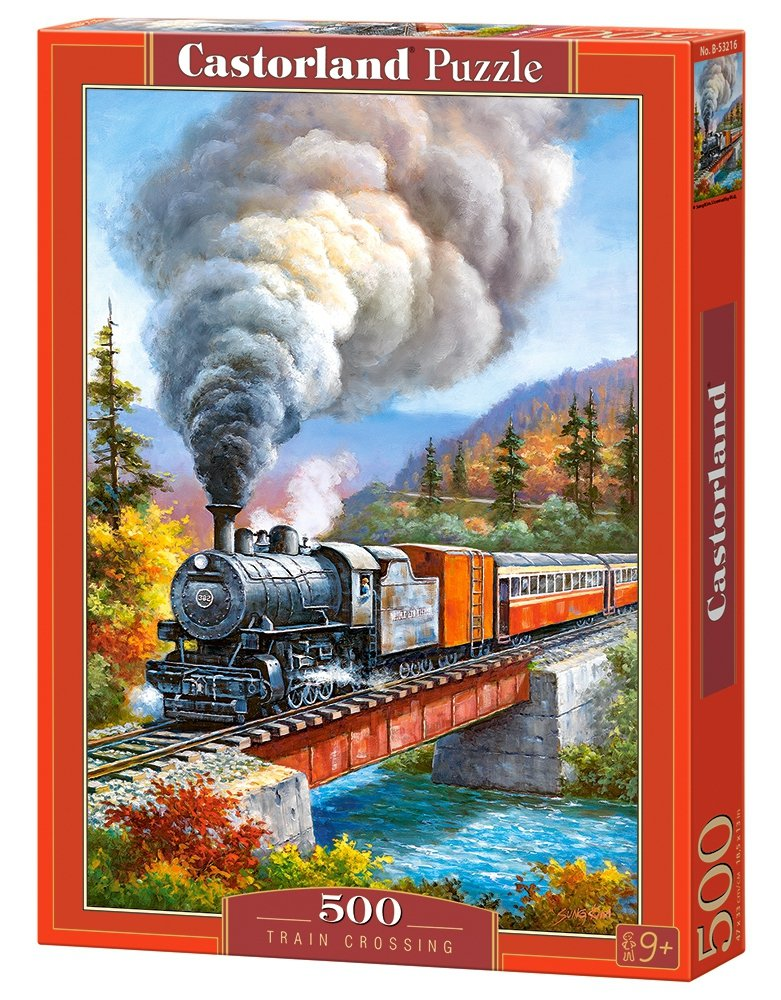 Puzzle 500 Castorland B-53216 Lokomotywa