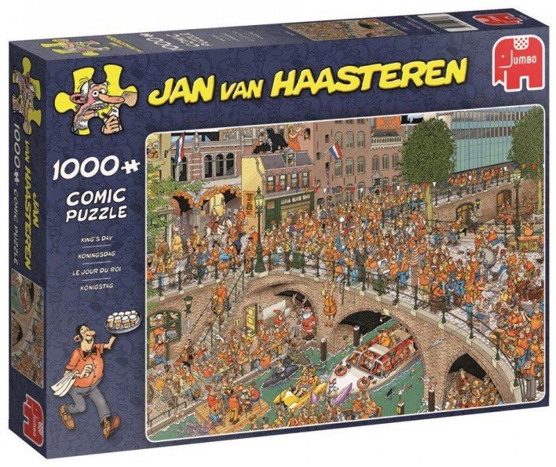 Puzzle 1000 Jumbo 19054 Jan van Haasteren - Dzień Króla w Holandii