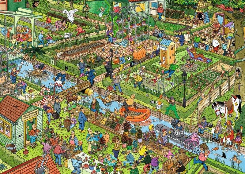 Puzzle 1000 Jumbo 19057 Jan van Haasteren - Ogród Warzywny