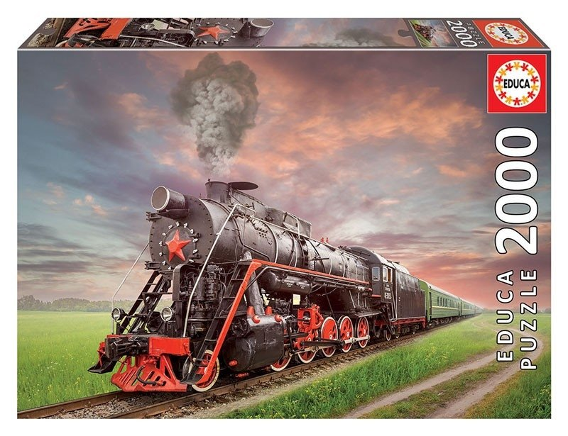 Puzzle 2000 Educa 18503 Parowóz - Soviet Train