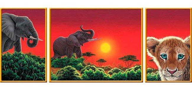 Puzzle 1000 Ravensburger 199914 Tryptyk - Serce Afryki