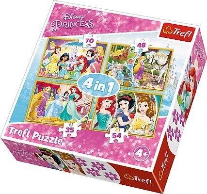 Puzzle 4w1 Trefl T-34309 Radosny Dzień Księżniczek