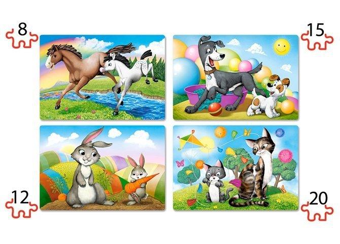 Puzzle 8,12,15,20 Castorland B-041053 Zwierzęta