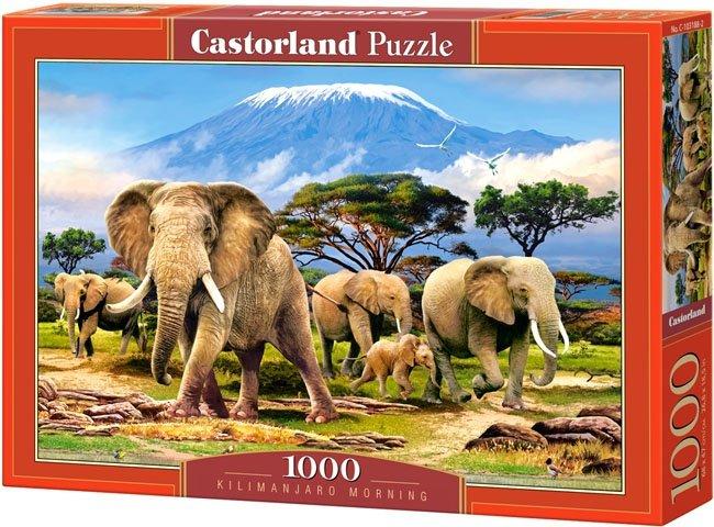 Puzzle 1000 Castorland C-103188 Słonie - Kilimanjaro