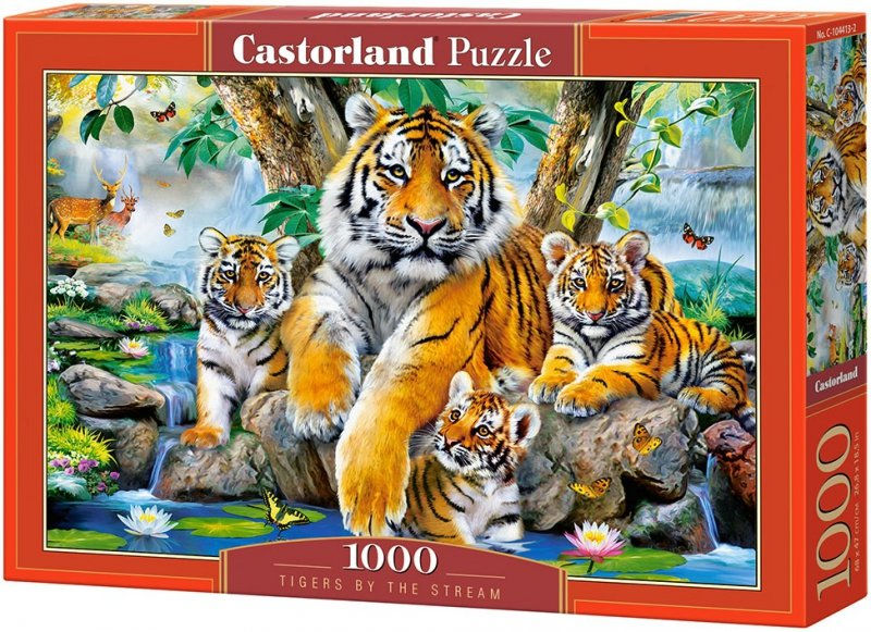 Puzzle 1000 Castorland 104413 Tygrysy nad Strumieniem