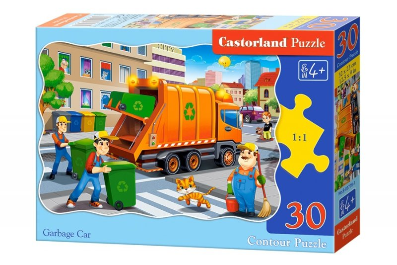 Puzzle 30 Castorland B-03778 Śmieciarka