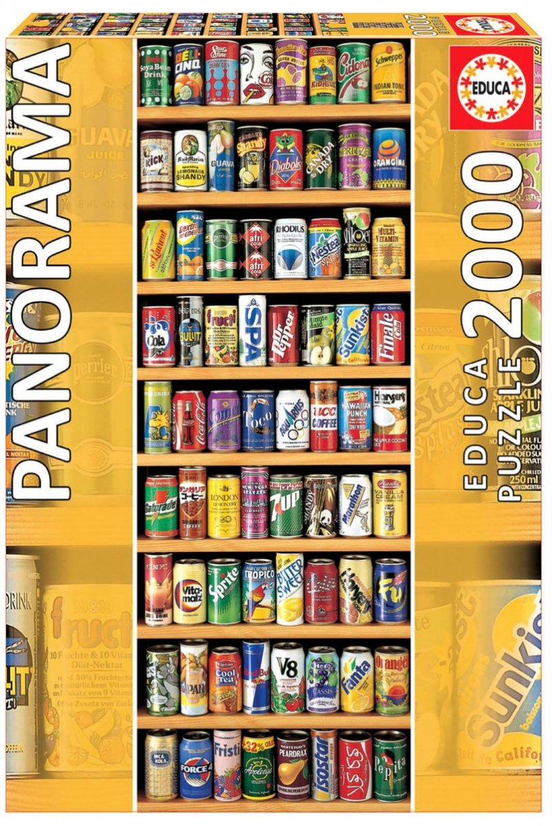 Puzzle 2000 Educa 11053 Puszki - Napoje Chłodzące ( Panorama )