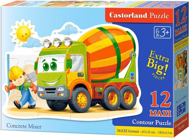 Puzzle 12 Maxi Castorland B-120086 Betoniarka