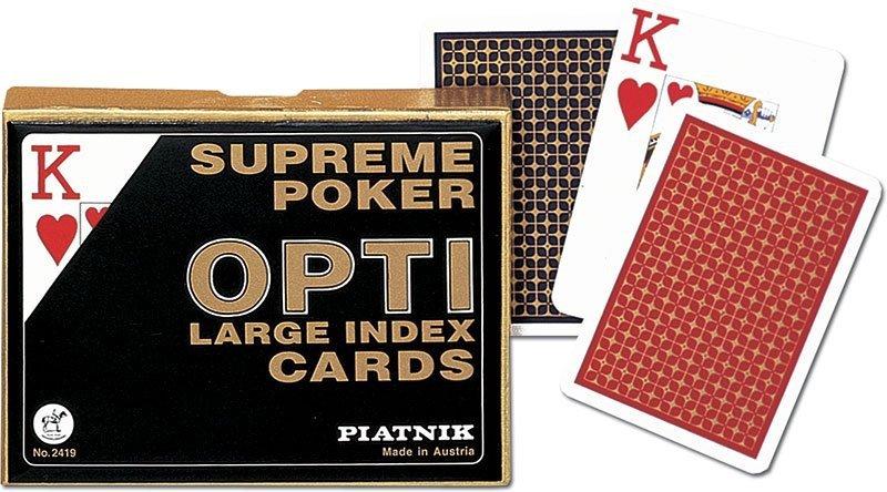 Karty do Gry Piatnik 2 Talie 2419 Supreme Poker Opti - Duże Indeksy