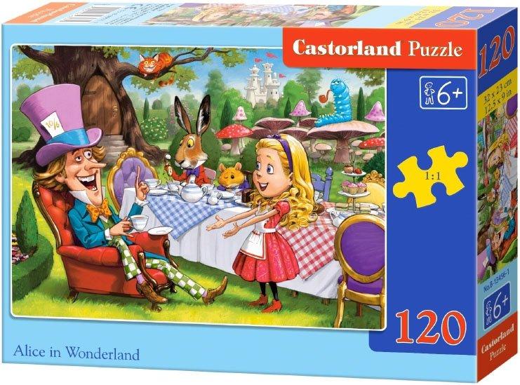 Puzzle 120 Castorland B-13456 Alicja w Krainie Czarów