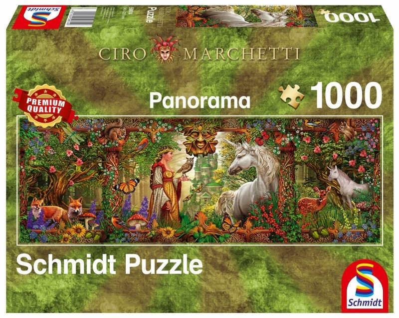 Puzzle 1000 Schmidt  59614 Ciro Marchetti - Magiczny Las - Panorama