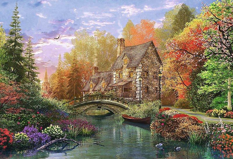 Puzzle 1500 Trefl 26136 Chata nad Jeziorem
