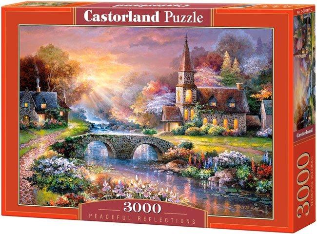 Puzzle 3000 Castorland C-300419 Kościółek - Peaceful Reflections