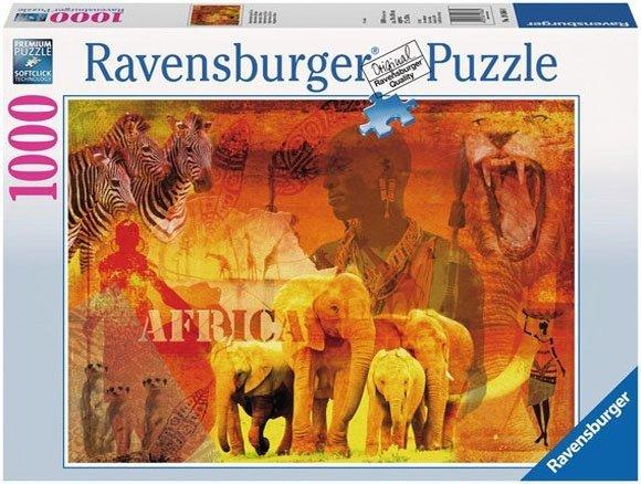 Puzzle 1000 Ravensburger 193660 Wrażenia z Afryki