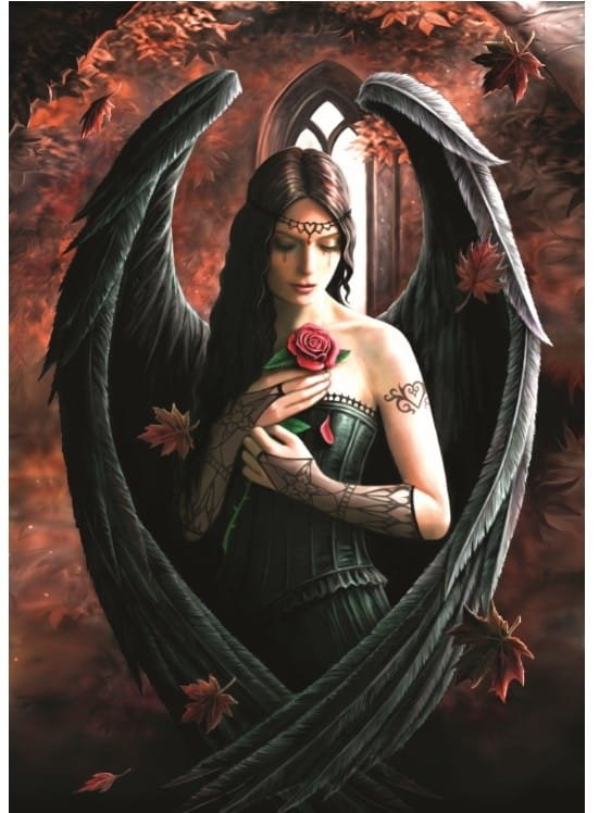 Puzzle 1000 Bluebird 70437 Anne Stokes - Angel Rose