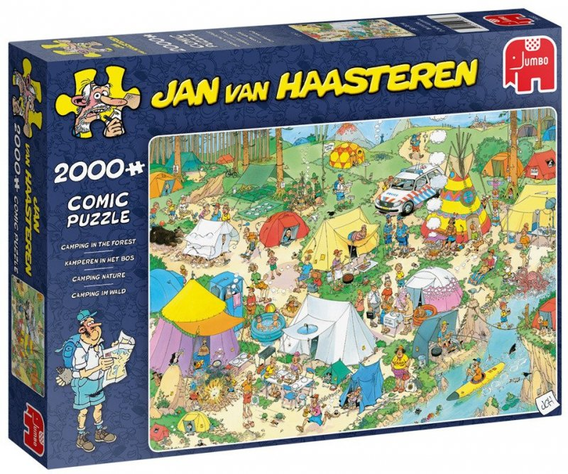 Puzzle 2000 Jumbo 19087 Jan Van Haasteren - Pole Namiotowe
