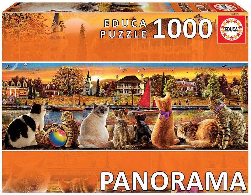 Puzzle 1000 Educa 18001 Koty na Nadbrzeżu - Panorama