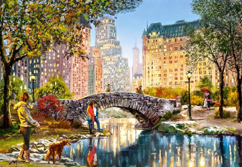 Puzzle 1000 Castorland 104376 Wieczorny Spacer po Central Parku
