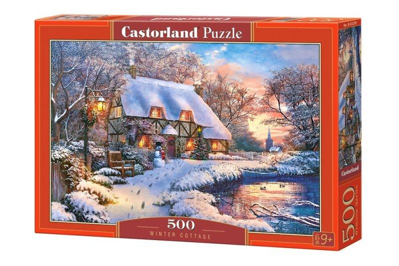 Puzzle 500 Castorland B-53278 Domek Zimowy
