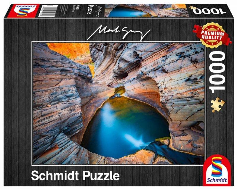 Puzzle 1000 Schmidt 59922 Mark Gray - Błękit Indygowy
