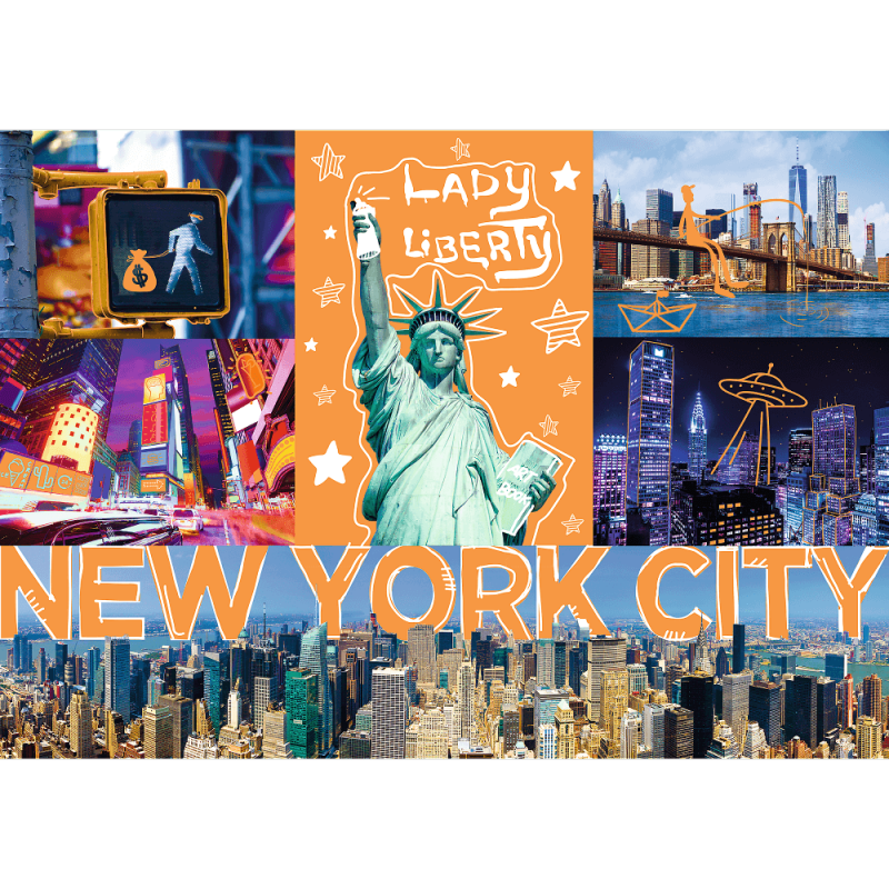 Puzzle 1000 Trefl 10579 Neon - New York - Neonowe Miasto