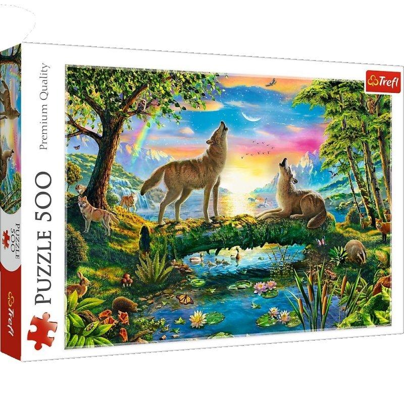 Puzzle 500 Trefl 37349 Wilki