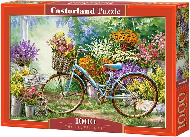 Puzzle 1000 Castorland C-103898 Rower - Kwiaty