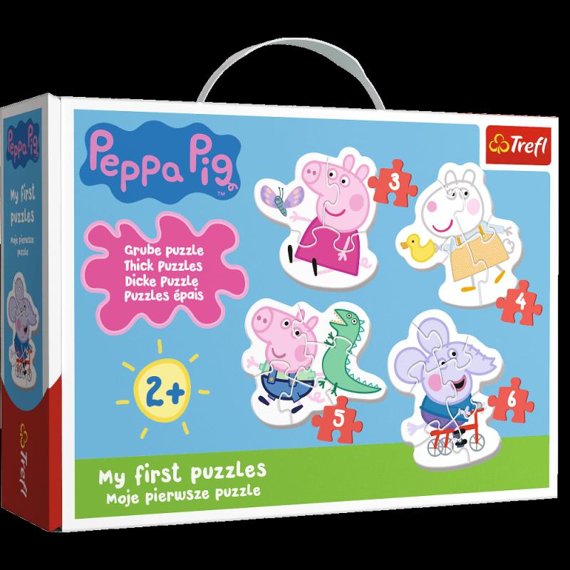 Puzzle 3,4,5,6 Baby Classic Trefl T-36086 Urocza Świnka Peppa
