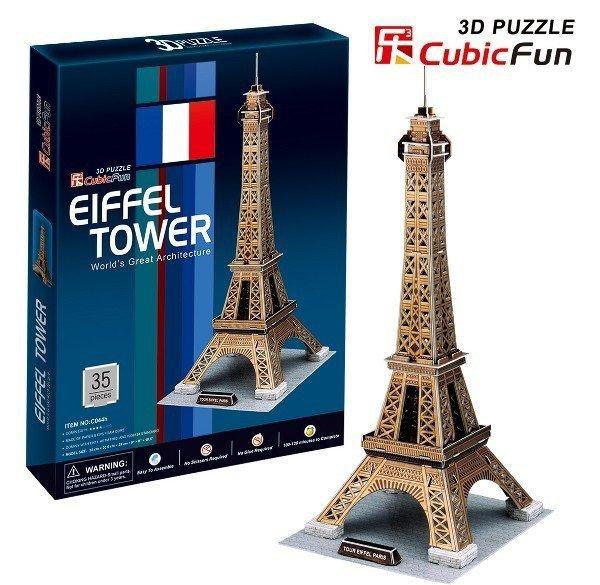 Puzzle 3D CubicFun 35 Wieża Eiffla - C044h