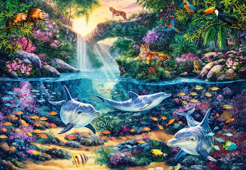 Puzzle 1500 Castorland C-151875 Raj w Dżungli