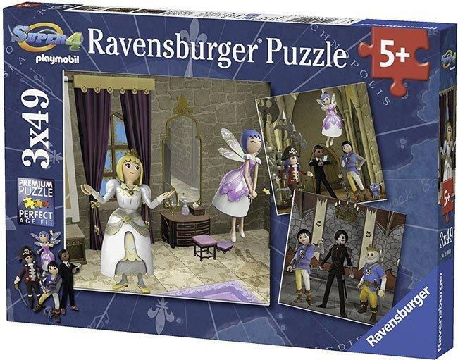 Puzzle 3x49 Ravensburger 094080 Królewski Ślub 3w1