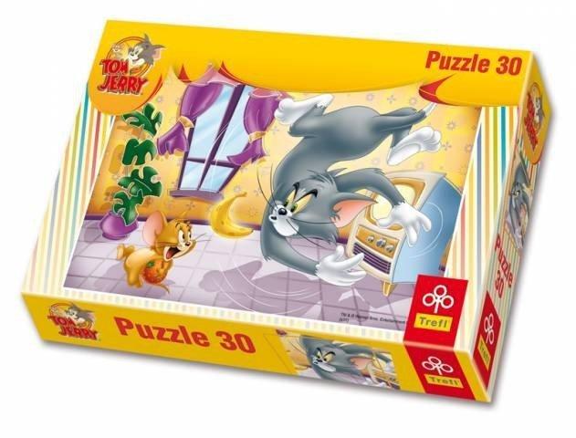 Puzzle 30 Trefl 18150 Tom i Jerry - Owocowa Bitwa