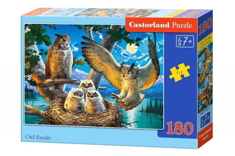 Puzzle 180 Castorland B-018437 Sowy - Rodzina