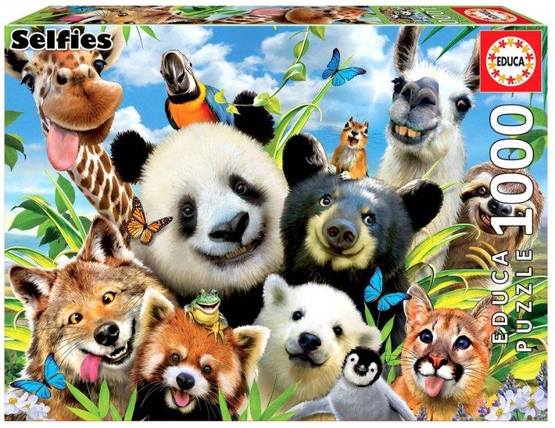 Puzzle 1000 Educa 18117 Zwierzęta - Selfie