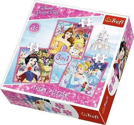 Puzzle 3w1 Trefl T-34833 Zaczarowany Świat Księżniczek